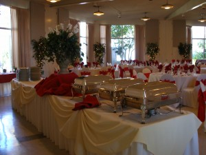 Red Themed Reception