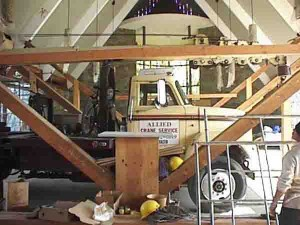 Crane used to Shore up the Beams